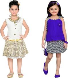 Aarika Girls Party(Festive) Dress Dress(White)