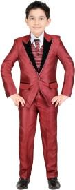 Kute Kids Boys Party(Festive) Coat Trouser(Maroon)