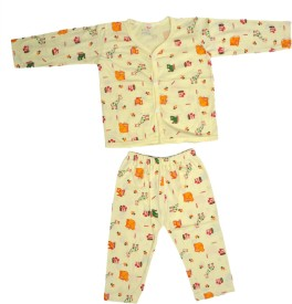 Jhankhi Boys & Girls Casual Top Pyjama(Yellow)