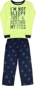 Carter's Boys Casual T-shirt Pyjama(Dark Blue, Pack of 1)