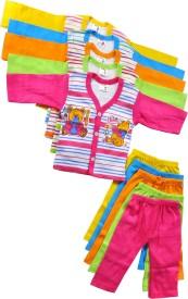 Mahadhi Boys Casual Top Pant(Multicolor)