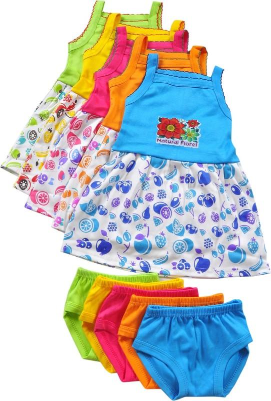 HAFEELA Girls Casual Dress Panty(Multicolor)