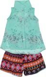 Addyvero Girls Casual Shirt Shorts (Gree...
