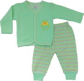 Ahad Boys & Girls Casual Top T-shirt, Track Pants(Green)