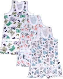 Manzon Boys & Girls Casual Vest Shorts(Multicolor)