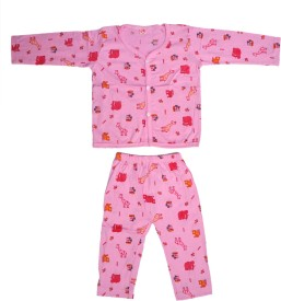 Jhankhi Boys & Girls Casual Top Pyjama(Pink)