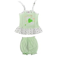 HAFEELA Girls Casual Dress Bloomer(Green)