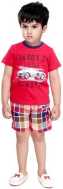 Bad Boys Boys Casual T-shirt Shorts(Red)