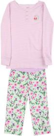 Carter's Girls Casual T-shirt Pyjama(White, Pack of 1)