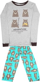 Carter's Boys Casual T-shirt Pyjama(Grey, Pack of 1)