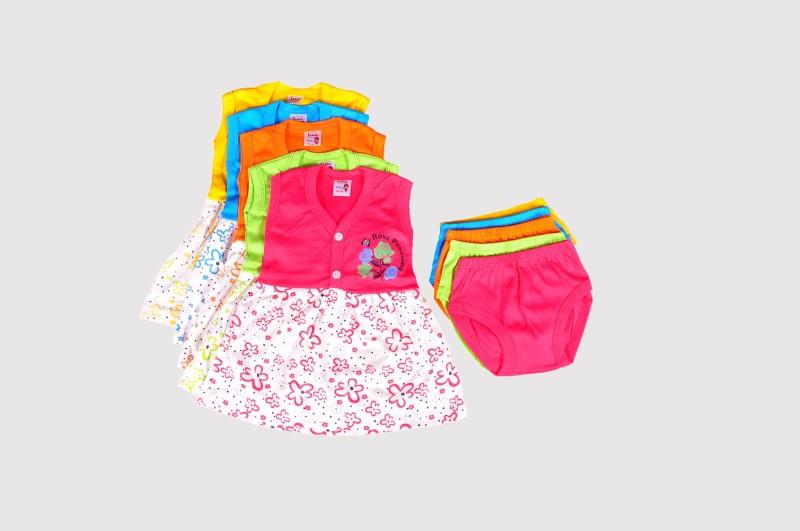 Mahadhi Girls Casual Top Panty(Multicolor)