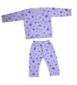 Jhankhi Boys & Girls Casual Top Pyjama(Purple)