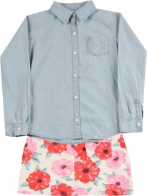 Carter's Girls Casual Shirt Skirt(Multicolor)