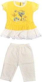 HAFEELA Girls Casual Dress Pant(Yellow)