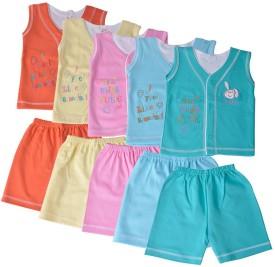 HAFEELA Boys Casual Top Shorts(Multicolor)