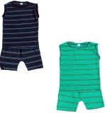 Indirang Boys Casual Top Shorts (Multico...