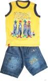 Mankoose Boys Casual T-shirt Shorts (Yel...