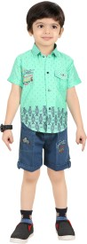 KIDDY Boys Party(Festive) Dress Shirt, Pant(Multicolor)