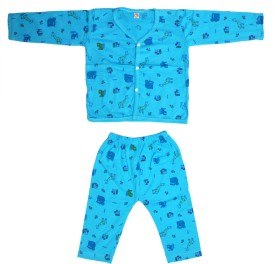 Jhankhi Boys & Girls Casual Top Pyjama(Blue)