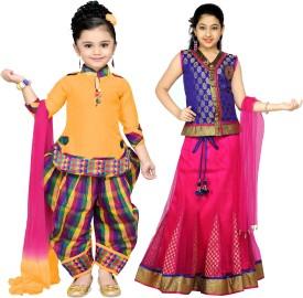 Aarika Girls Party(Festive) Dress Dress(Multicolor)