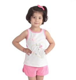 Yukth Girls Casual Top Shorts(Pink)