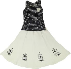 Kid n Kids Girls Party(Festive) Top Skirt(White)