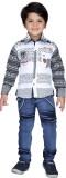 AJ Dezines Boys Casual Shirt Jeans (Whit...