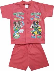 Mankoose Boys Casual T-shirt Shorts(Pink)
