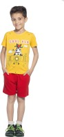 Maniac Boys T-shirt Shorts(Yellow)