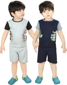 Dewberrys Boys Casual T-shirt Shorts(Blue)