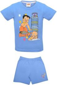 Chhota Bheem Boys & Girls Casual T-shirt Shorts(Multicolor)