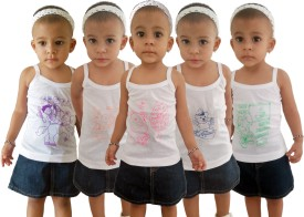 HAP Camisole For Girls(Multicolor, Pack of 5)