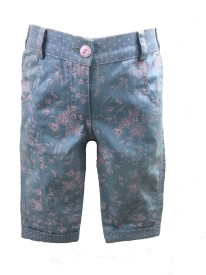 Be Kids Capri For Girls Casual Floral Print Denim(Pink Pack of 1)