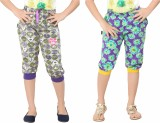 Red Ring Capri For Girls Casual Floral P...