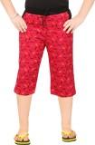 Red Ring Capri For Boys Casual Printed C...