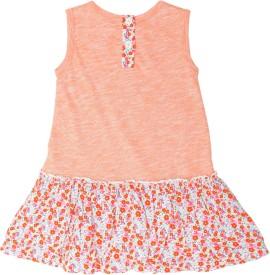Weedots Midi/Knee Length Casual(Orange)