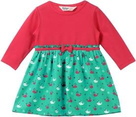 Beebay Baby Girl's Midi/Knee Length Casual(Green, Full Sleeve)