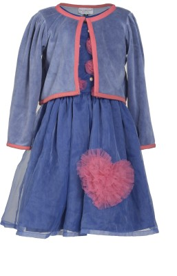 MARSHMALLOW A- Line Dress For Girls