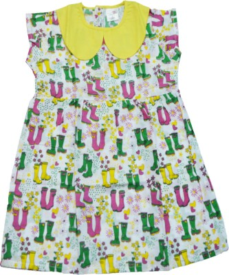 Ponies And Ponytails Tunic For Girls(White Cap Sleeve)