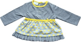 Kiddale Baby Girl's Midi/Knee Length Casual(Grey, Full Sleeve)