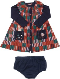 NautiNati Baby Girl's Casual(Multicolor, Sleeveless)