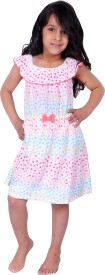 Beebay Girl's Midi/Knee Length Casual(Multicolor, Sleeveless)