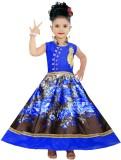 MKB Girl's Maxi/Full Length Casual (Blue...