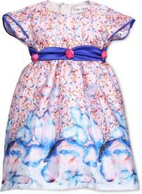 Soul Fairy Baby Girl's Midi/Knee Length Party(Light Blue, Cap Sleeve)