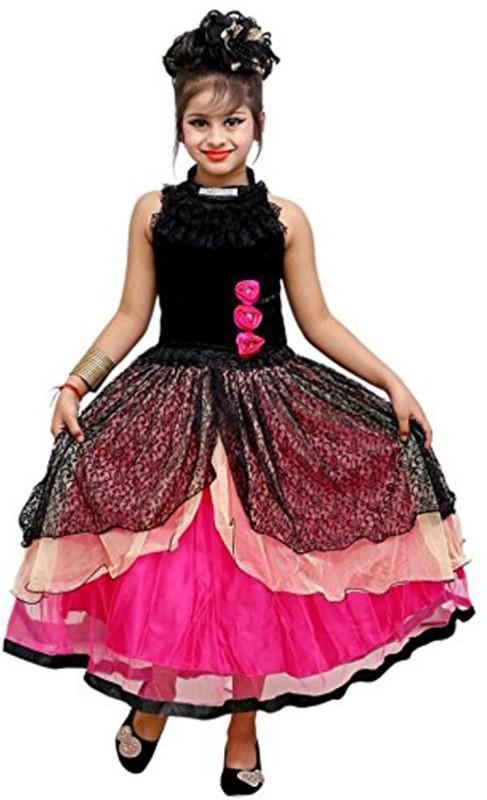 AD & AV Girl's Mini/Short Party Dress(Black, Sleeveless)