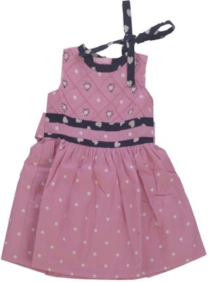 MARSHMALLOW A- Line Dress For Baby Girls