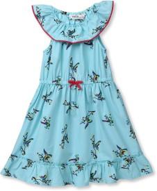 Beebay Baby Girl's Midi/Knee Length Casual(Light Blue, Sleeveless)