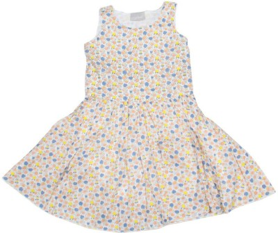 Old Khaki Gown Dress For Girls(Multicolor Sleeveless)