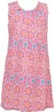 Trmpi Girl's Casual (Pink, Sleeveless)