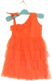 Cuddledoo Baby Girl's Midi/Knee Length Casual(Orange, Fashion Sleeve)